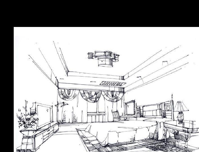 室内设计马克笔彩铅手绘步骤分析教程