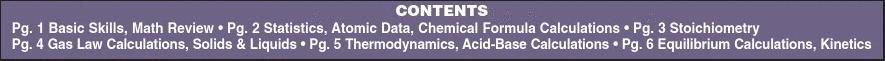BarCharts QuickStudy Chemistry Equations & AnswersE