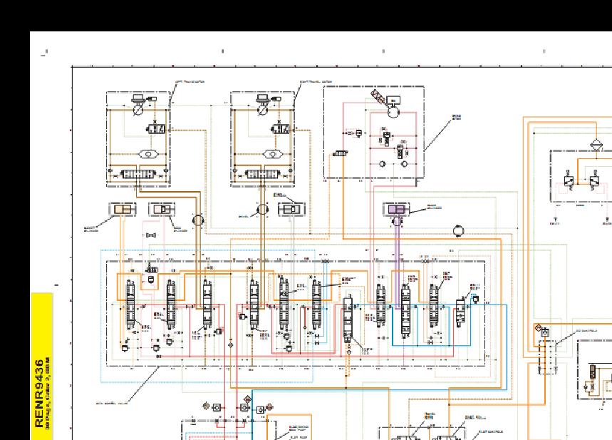 现代挖掘机液压原理图图片
