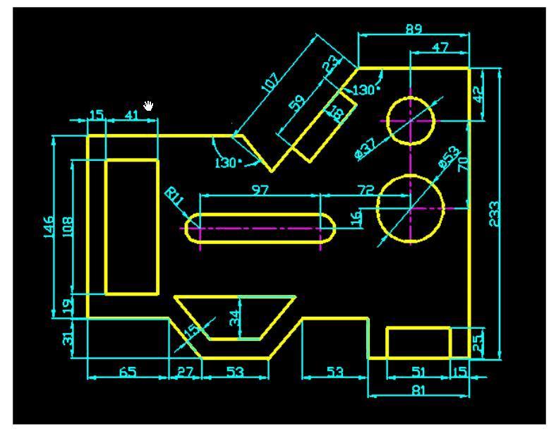 cad建筑平面练习图642010cad激活图片