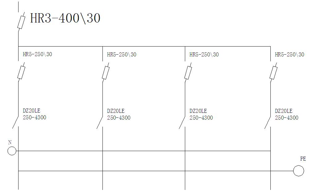 一级配电箱电路�_配电柜及电路图材料