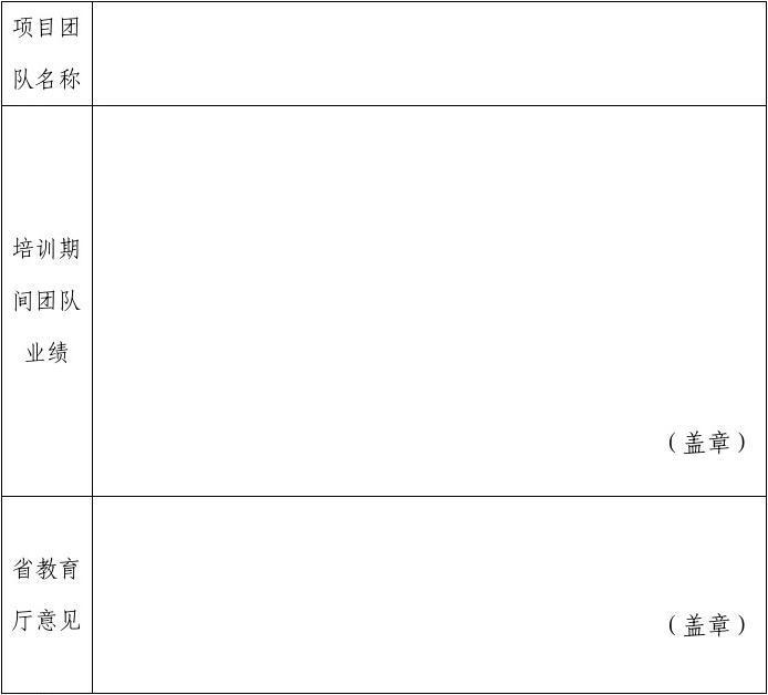 优秀项目团队推荐表