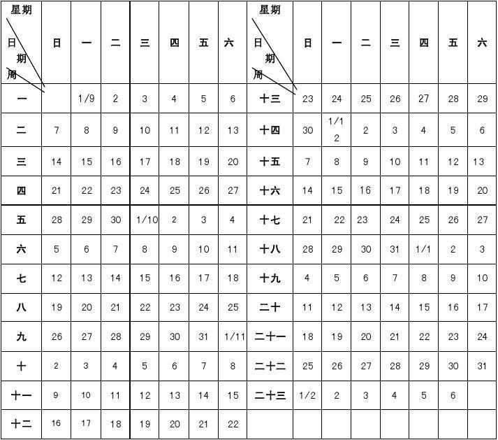 徐州市2014—2015学年度第一学期校历