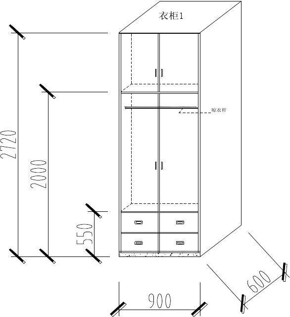cad繪柜子立體圖,可參閱圖片