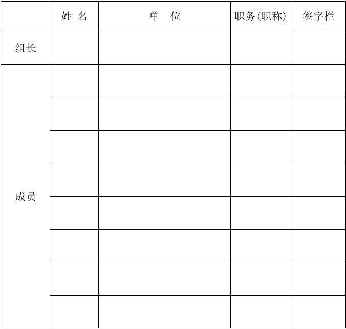 山洪灾害防治县级非工程措施建设项目初步验收专家组签字表