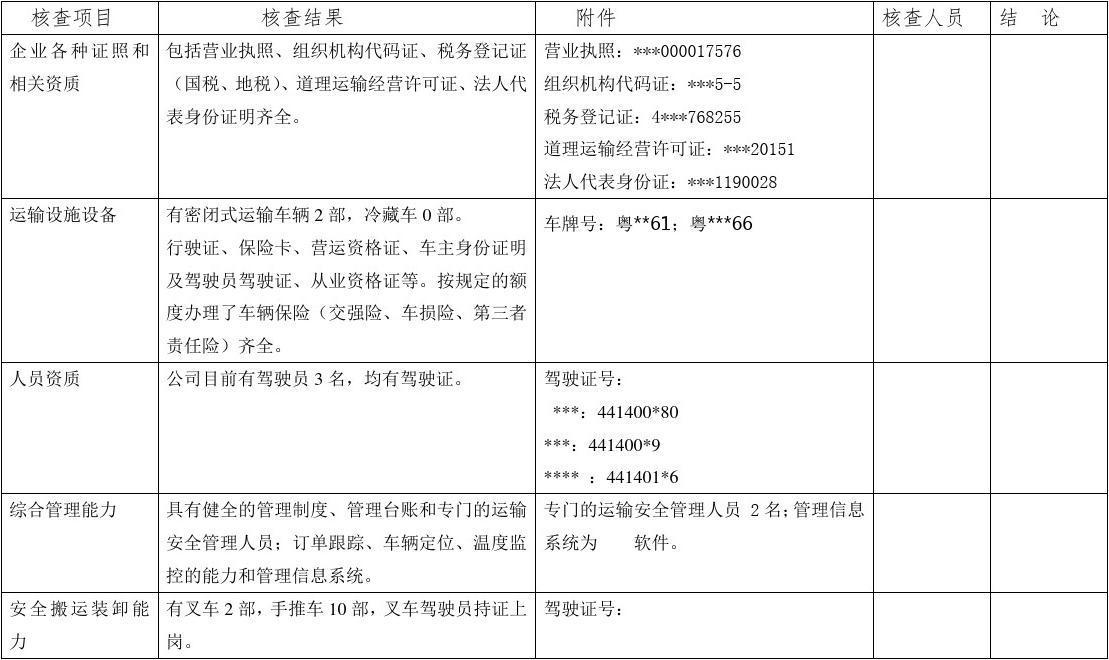 2014湖北省高考数学_委托运输单位质量保障能力审核表.报告及要求_文档下载