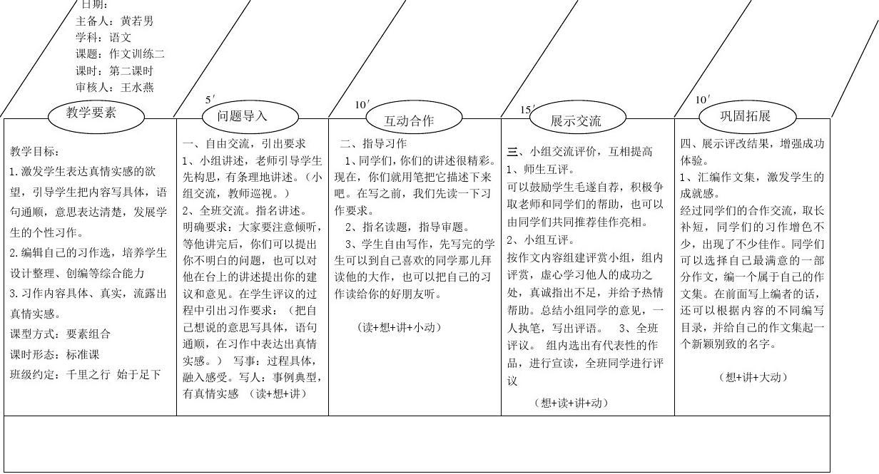 上饶县第一图文eepo小学结构总结单送教上门教学经验备课图片