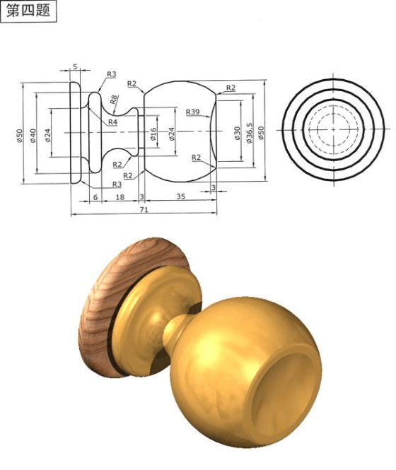 UG二维图转CAD三维图圆角不对,求解决视图?cad方法圆弧两个倒图片