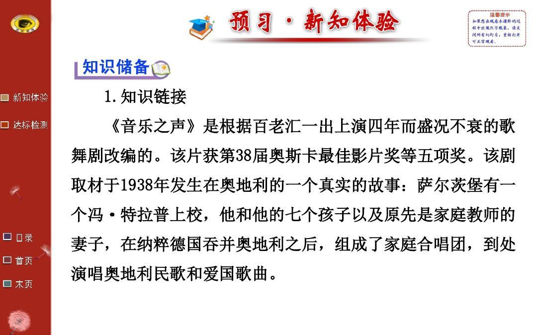 2015初中语文金榜学案配套课件16 音乐之声.ppt图片