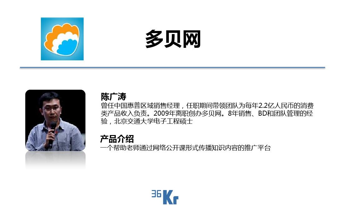 36氪开放日-11.24北京站 多贝网(陈广涛)