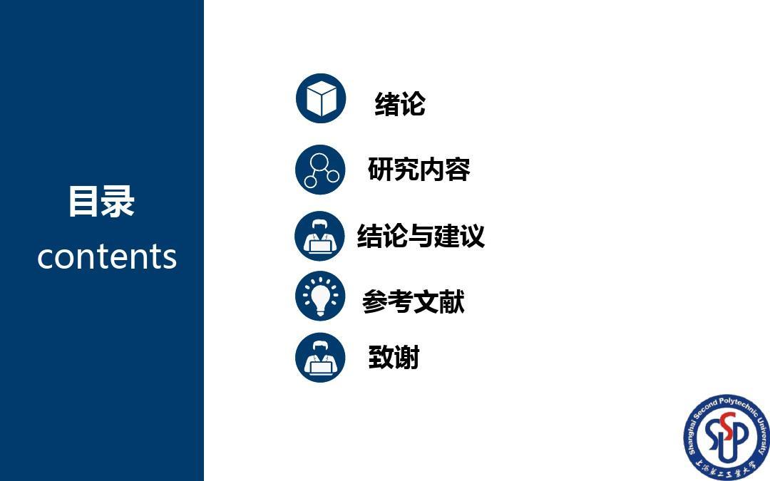 上海第二工业大学毕业答辩ppt模板图片