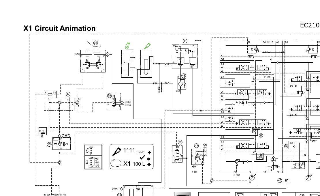 volvo挖掘机液压系统原理图图片