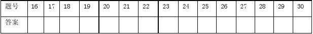 平模中学2012-2013英语试题学年度第一学期 2