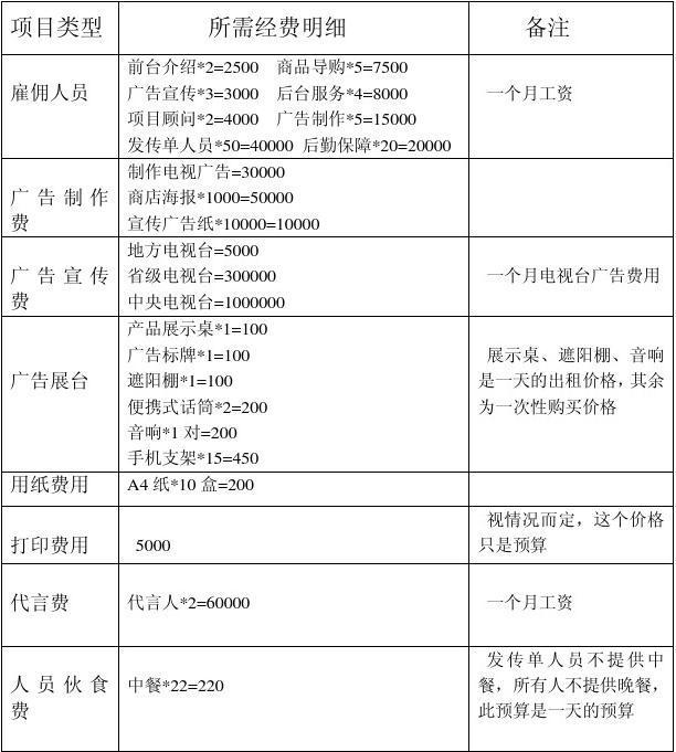 三星促销策略_小米手机营销费用预算表_文档下载