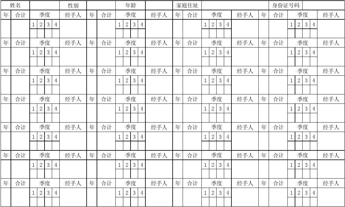 重庆市职工个人缴纳失业保险费登记表