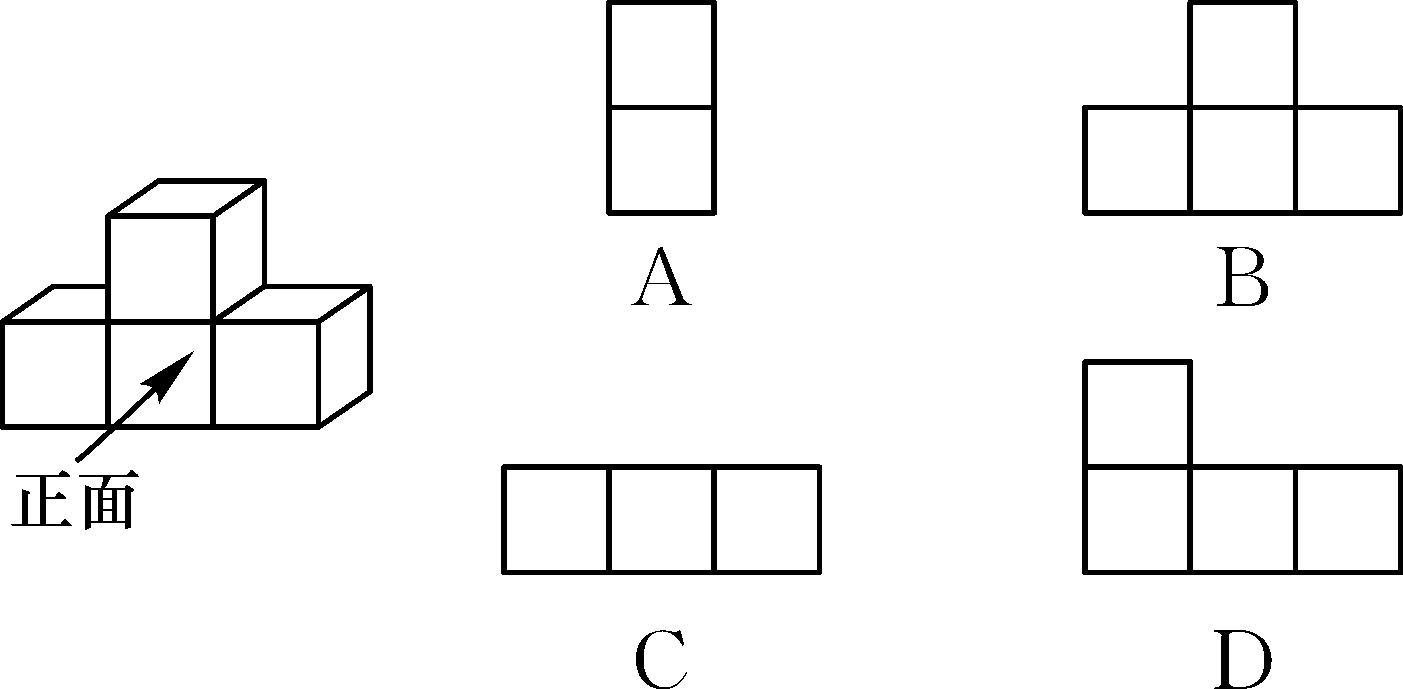 2.(贺州中考)如图是由四个小正方体叠成的一个几何体,它的左视图是()图片