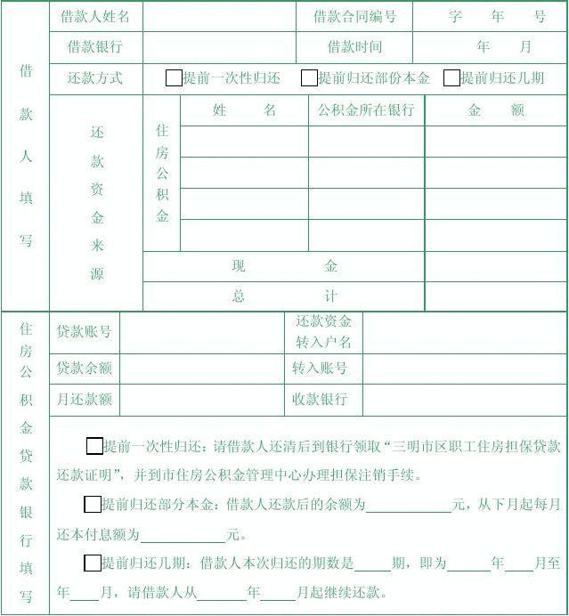 三明市住房公积金贷款指南