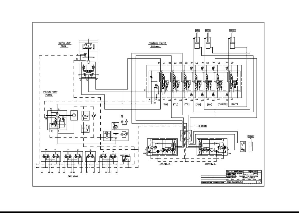 挖掘机液压系统_三一挖掘机液压系统.