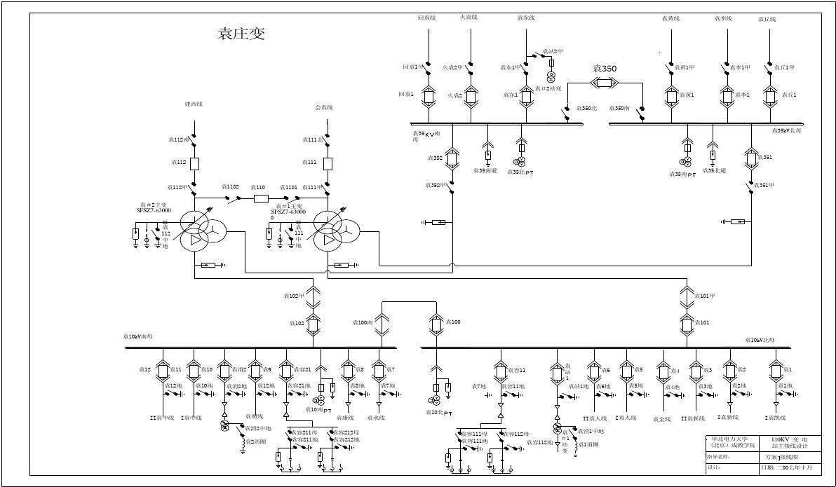 机械系统设计论文_110kV变电站主接线一次接线图_word文档在线阅读与下载_无忧文档