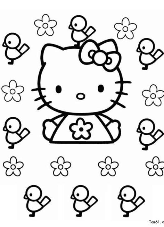 用于宝宝涂色游戏的卡通人物简笔画图片