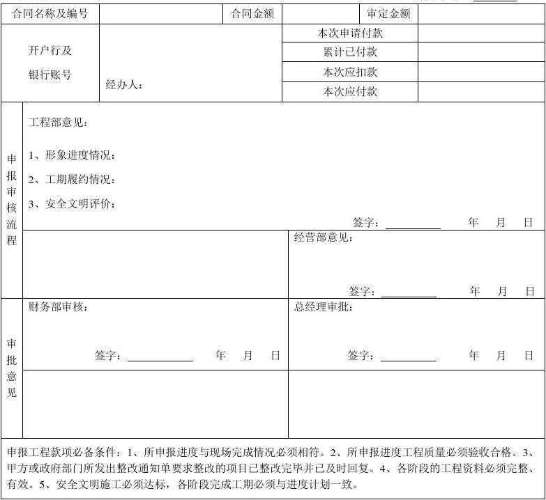 工程月进度款申请表_工程月进度计划_工程进度款
