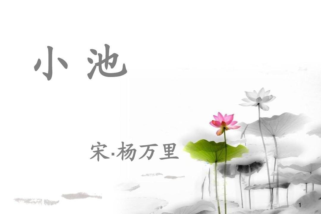 小学古诗杨万里《小池》.ppt