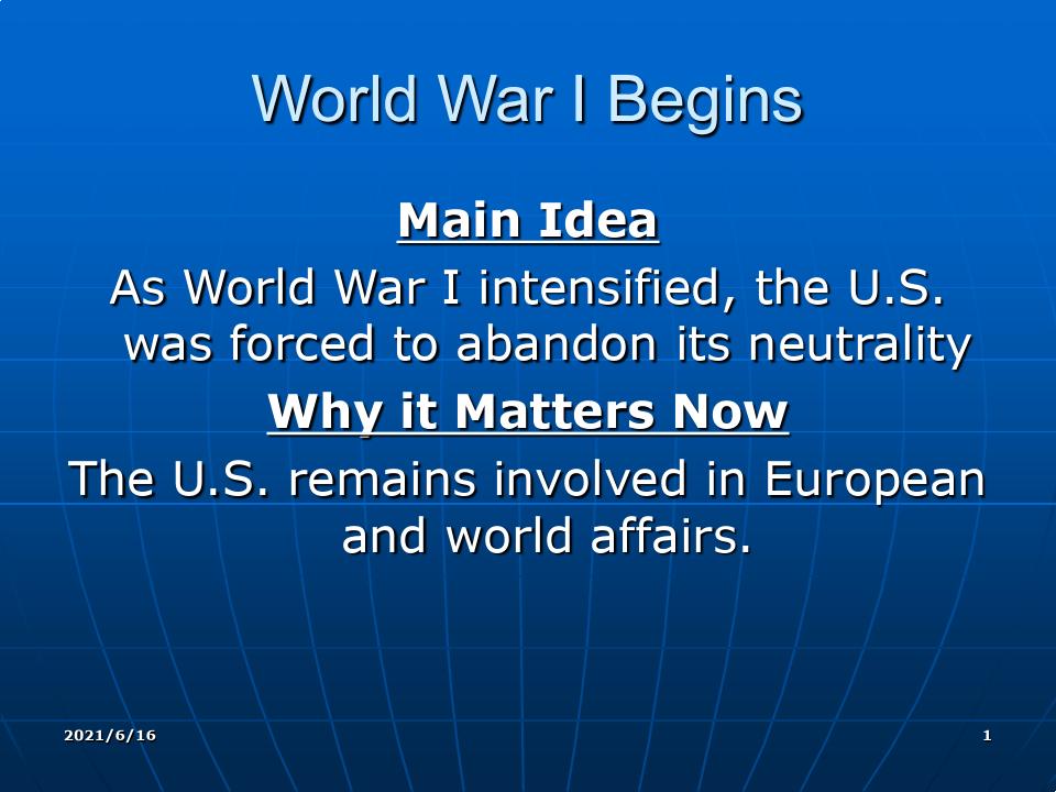 The First World War US history 美国历史 附带书后问题答案