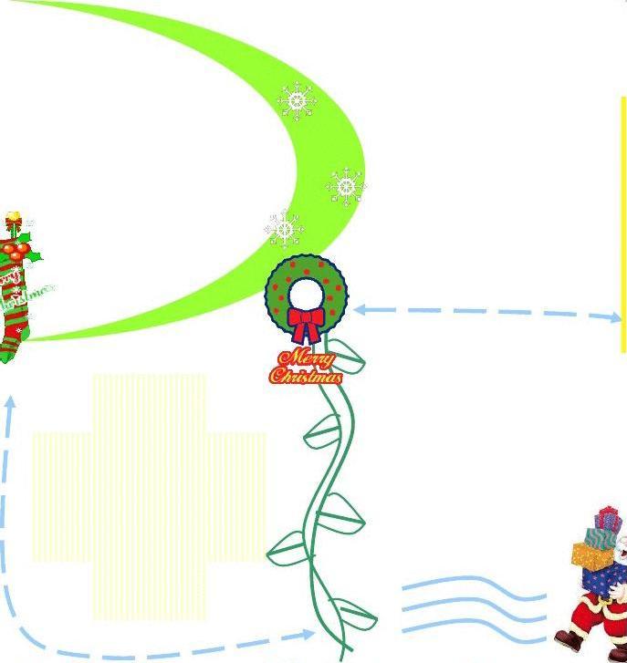 圣诞节手抄报框架图片