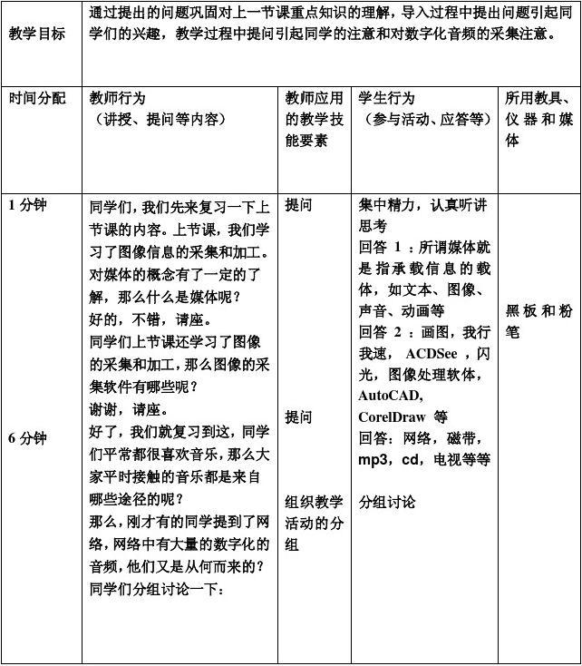 语文课堂提问的技巧_提问技能微格教学教案设计表_文档下载
