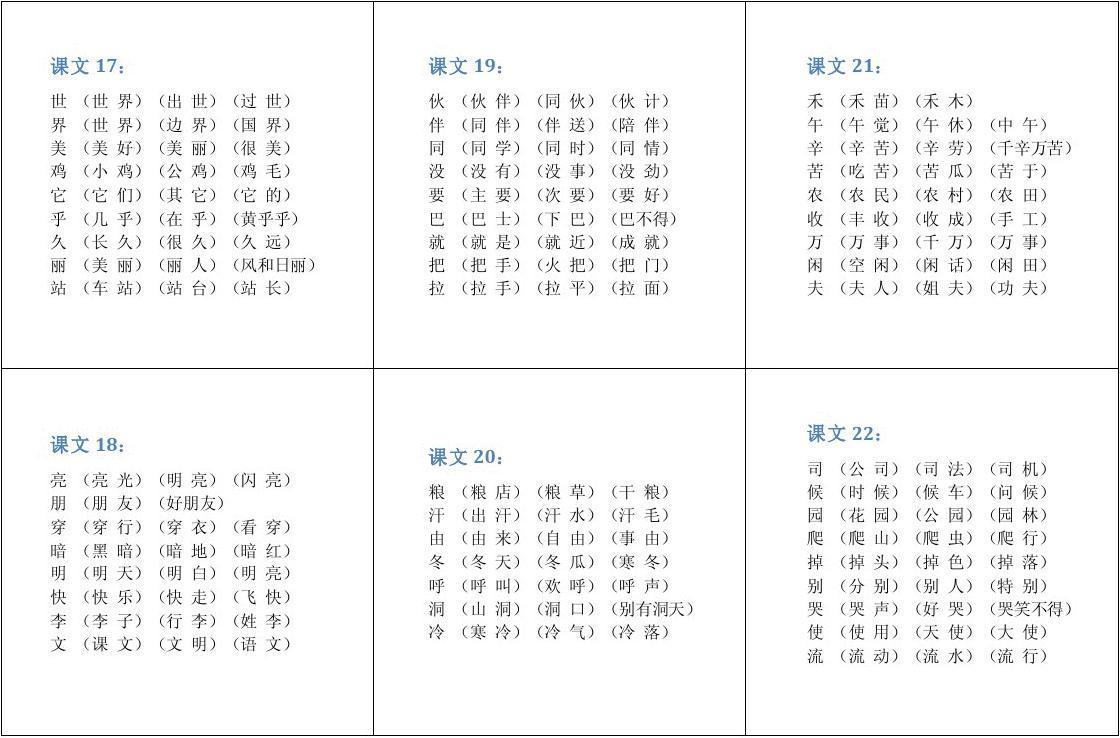 四年级下册冀教版第八课生字加年级组词:4下册拼音语文书第2课生总结暑假初中200字图片