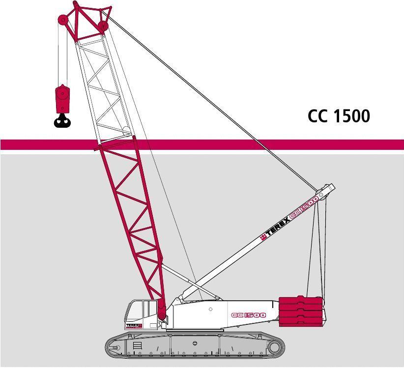 特雷克斯-德马格 TEREX DEMAG 履带式起重机CC1500(275T)