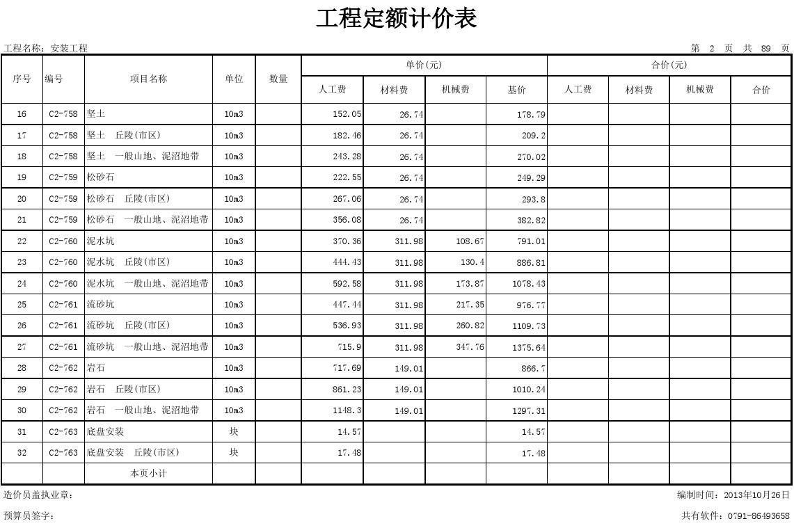 定额人工费_免费文档 所有分类 工程科技 建筑/土木 江西省安装工程消耗量定额
