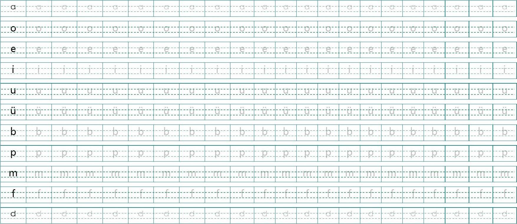 汉语拼音字帖图片