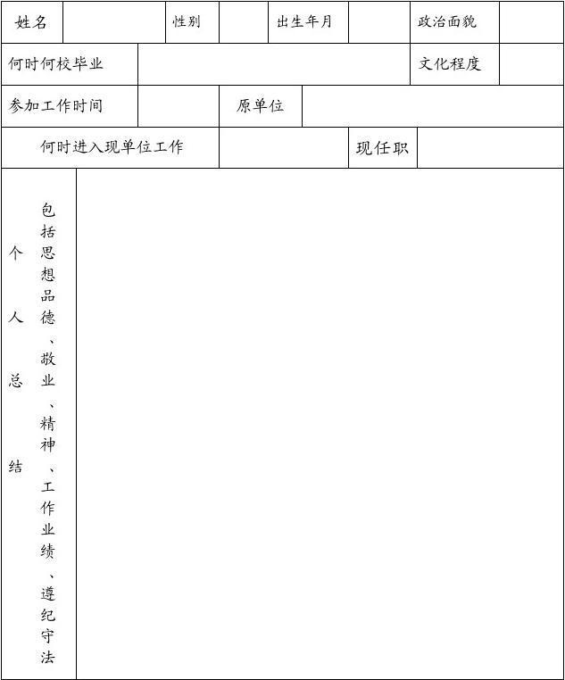 人事考核_南平人事代理人员年度考核表