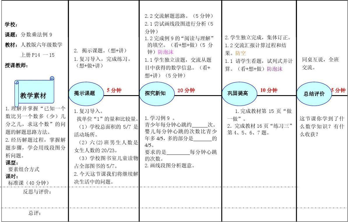 eepo教案分数乘法应用题例9幼儿园备课的v教案图片