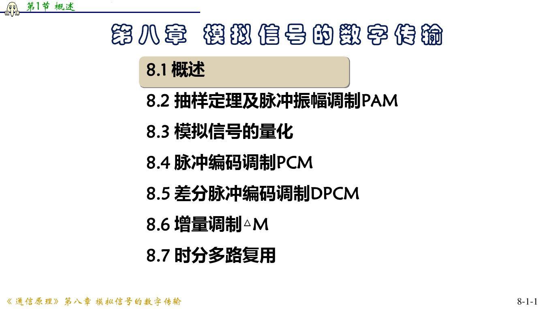 cp8_1模拟信号的数字传输概述