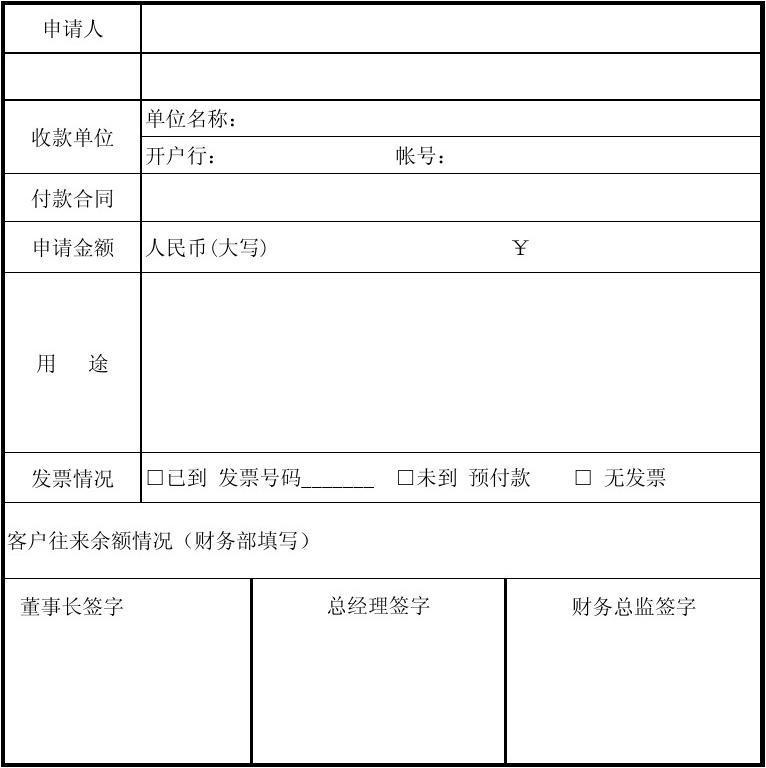 文档网 所有分类 表格/模板 书信模板 请款单格式范本  金航发商贸图片
