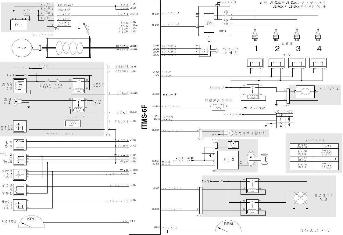 德尔福电喷系统电路图1