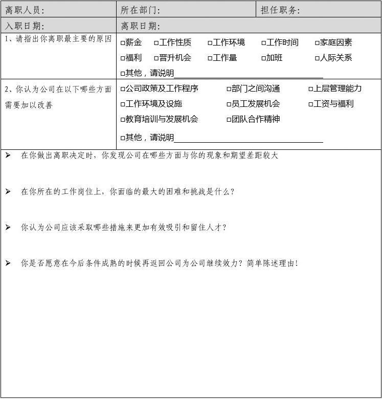 无忧文档 所有分类 求职/职场 简历封面/模板 离职:员工离职申请书及图片