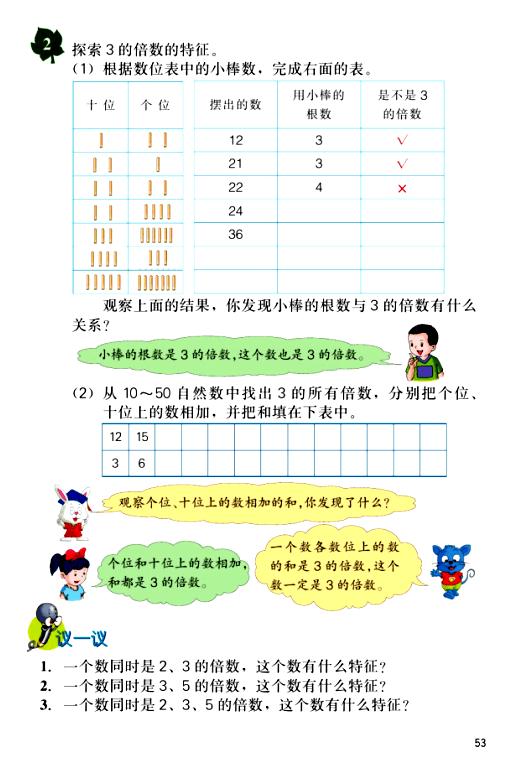 2016-2017年新冀教版数学四年级上册《3的倍数特征》教学建议(精品资料)