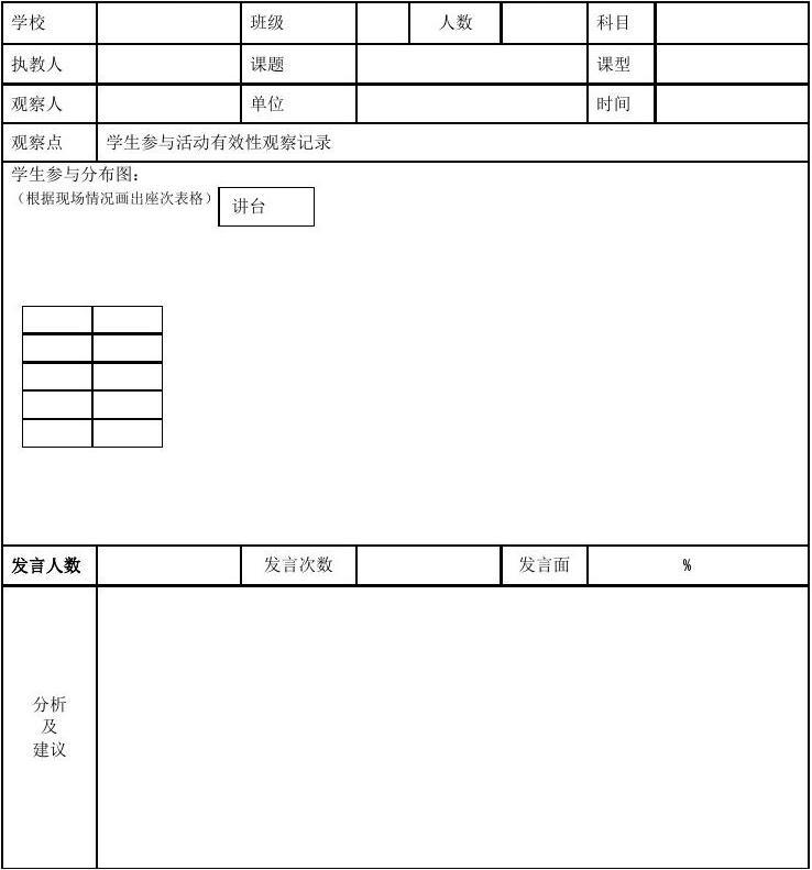 免費意圖記錄分類小學英語題目設計表觀察初中:本表主要所有數學學生最難課堂文檔圖片