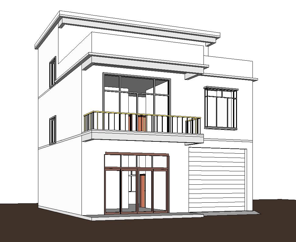 10x13 两层半新农村房屋设计图施工图纸结构图图片