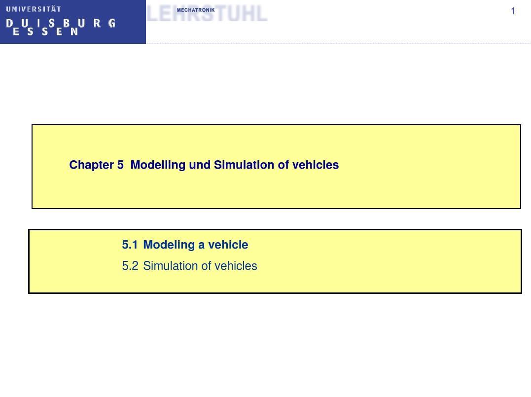 5.1 Modeling a vehicle