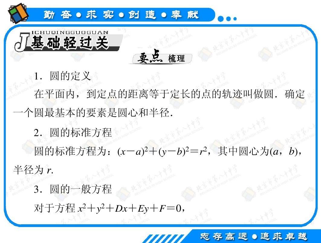 2013年高考数学(理科)一轮复习课件第47讲:圆的方程答案ppt图片