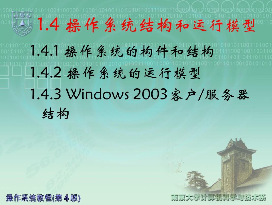 ch1-1.4操作系统结构_2011