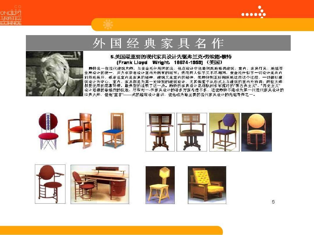 国外著名几何设计师作品演示ppt家具设计结合字体图片
