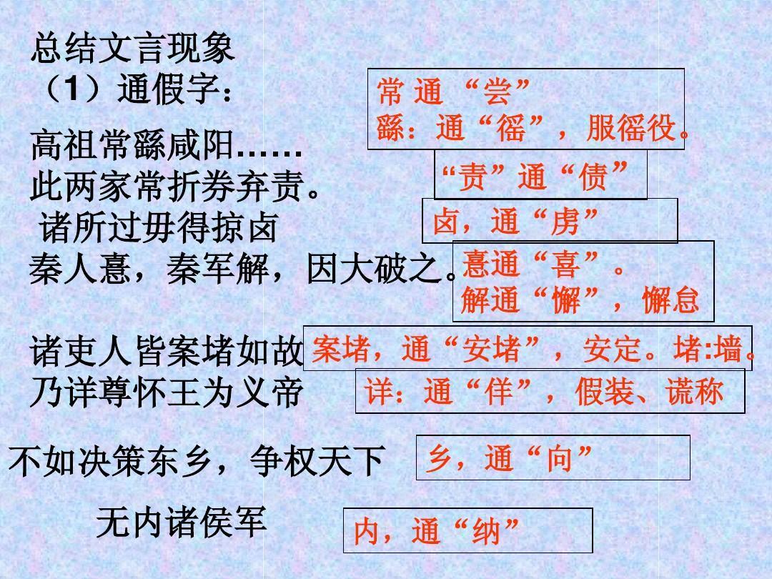 《高祖本纪》10张知识点梳理wenqingl