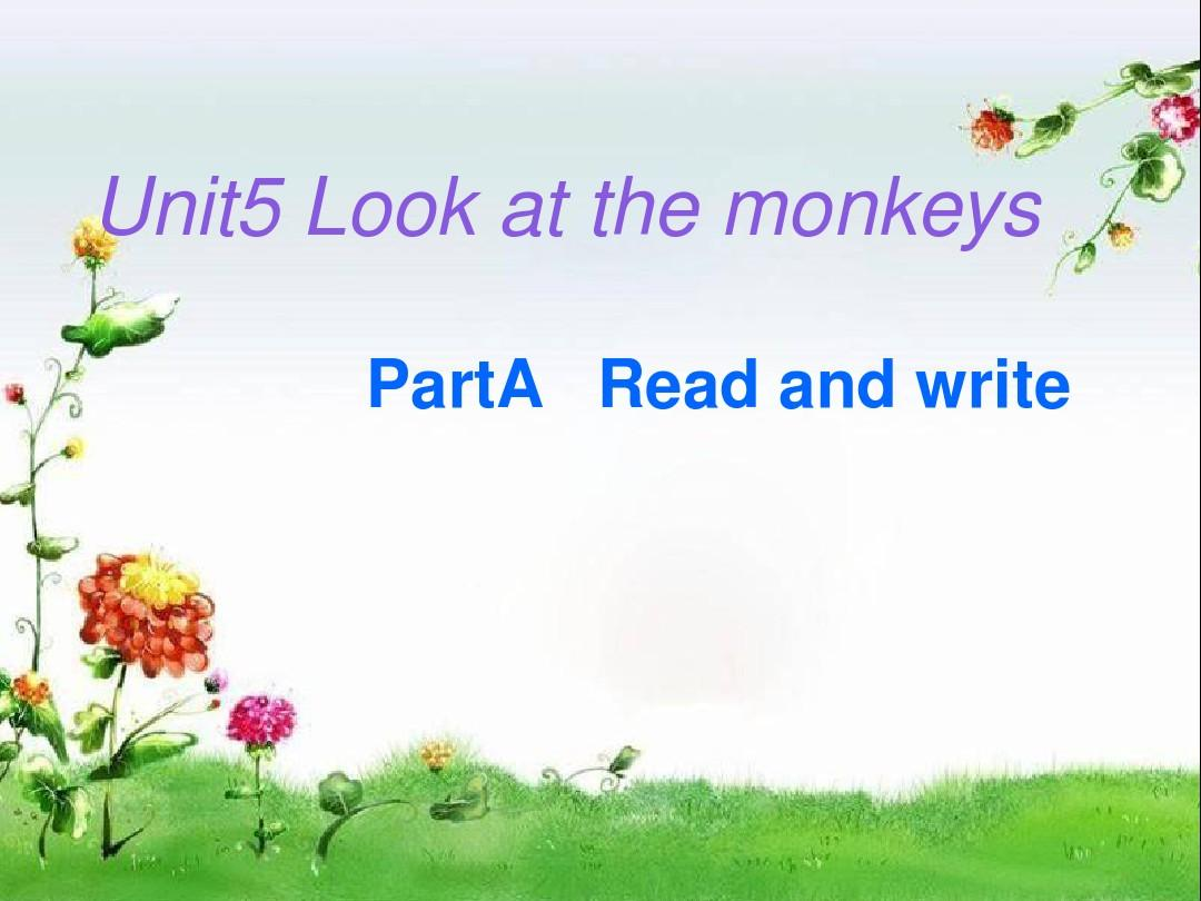 pep五年级英语下册unit5Look_at_the_monkeys_____A_Read_and_write