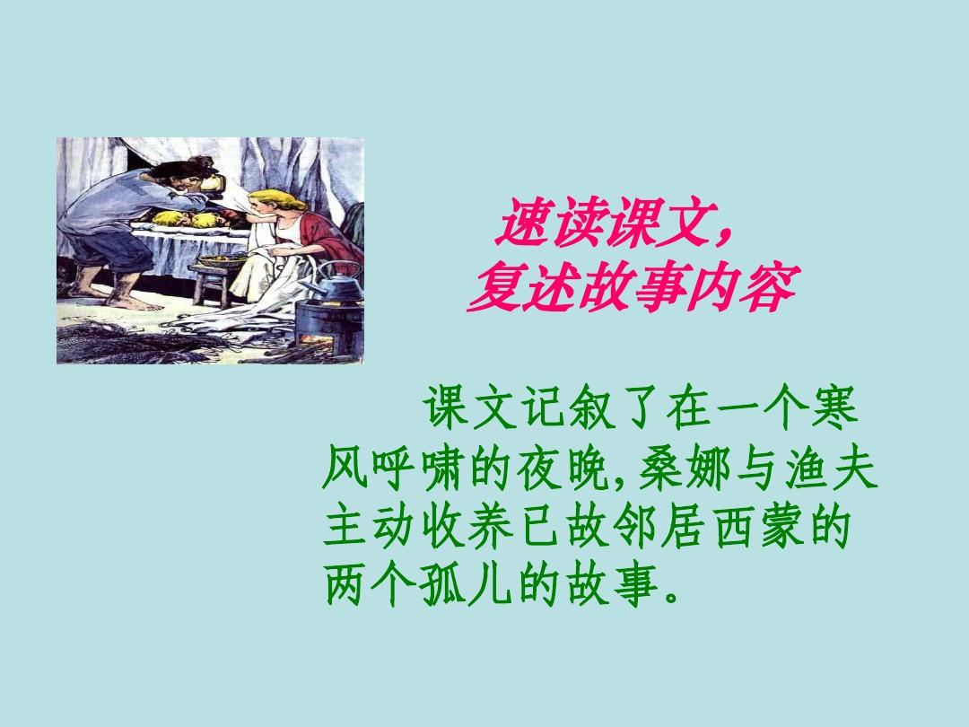 最新教师版六人教上册课件:9年级穷人ppt英语备课语文图片