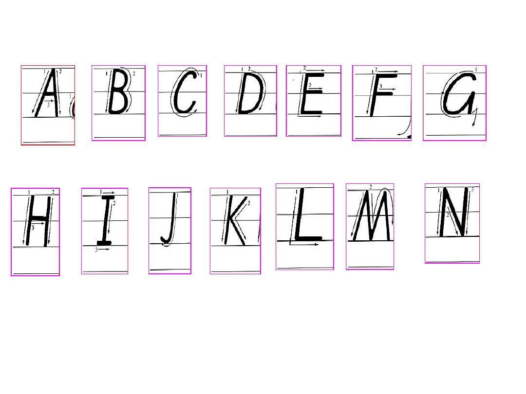 26个英语字母大小写手写体ppt图片